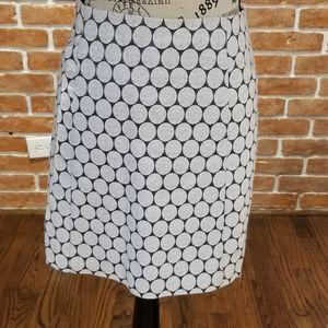 J. Crew size 12 silver polka dot skirt